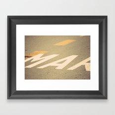 Mar Route Framed Art Print