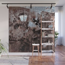 Floral Sicilian Architecture Wall Mural