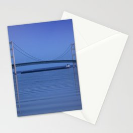 The Mackinac Bridge & the Great Lakes Freighter Stationery Cards