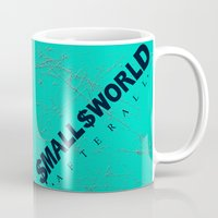 biggie smalls Mugs featuring Smalls World After All (Biggie Lives On) by dylated