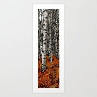 birch Art Prints featuring Birch by LeahOwen