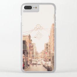 Morning in Chinatown Clear iPhone Case