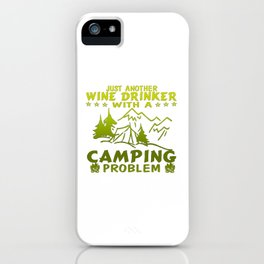 Wine & Camping iPhone Case