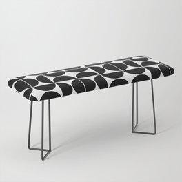 Mid Century Modern Geometric 04 Black Bench