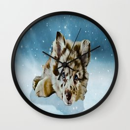 Snow dog Wall Clock