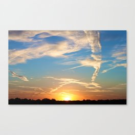 Sunrise Or Sunset (Pt 1): Peculiar, Missouri. Canvas Print