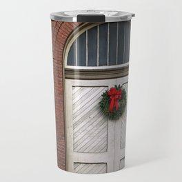Old Ellicott City Christmas Doors Travel Mug