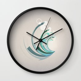 Wave Abstract Wall Clock