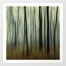 blurred woods Art Print