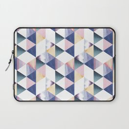 Watercolor geometric pastel colored seamless pattern Laptop Sleeve