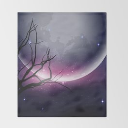 Face of the Moon Throw Blanket