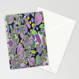 Crazy Paving - Abstract, textured, pastel coloured artwork Stationery Cards