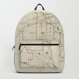 Vintage Map of The Chicago Railroads Backpack