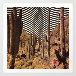 Pyschedelic desert Art Print