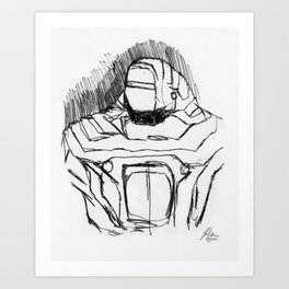 Warbot Sketch #056 Art Print