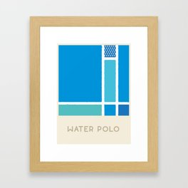 Water Polo (Sports Surfaces Series, No. 25) Framed Art Print