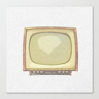 tv Canvas Prints featuring Television* by Mr and Mrs Quirynen