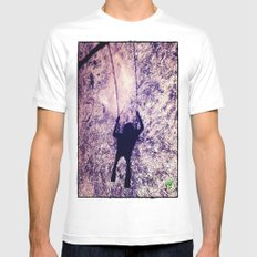 Up MEDIUM White Mens Fitted Tee