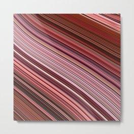 Maroon Earthy Filaments Digital Threads Metal Print
