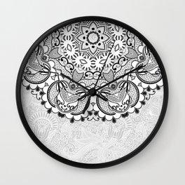 Mandala BW Wall Clock