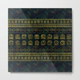 Maya Calendar Glyphs pattern Metal Print