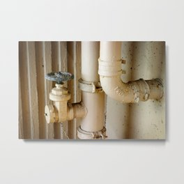 Pipes Metal Print