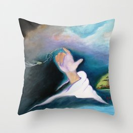 A BULLET MET BY GOD ...special edition Throw Pillow