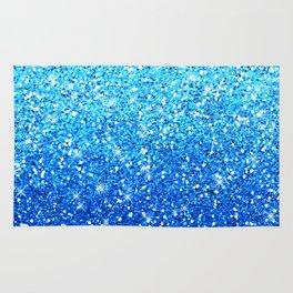 Blue Glitters Sparkles Texture Rug