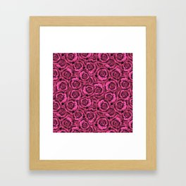 Pink roses. Pattern. Framed Art Print