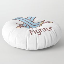 Cute Dungeons and Dragons Fighter class Floor Pillow