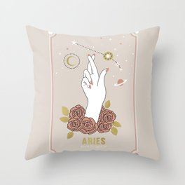 Aries Zodiac Series Throw Pillow