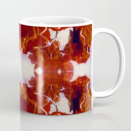 Red Rosie Photographic Pattern Coffee Mug