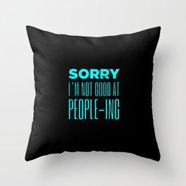 Funny Peopleing People ING Throw Pillow