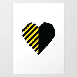 Yellow Love Heart Art Print