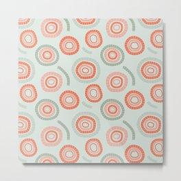 circles orange & green Metal Print