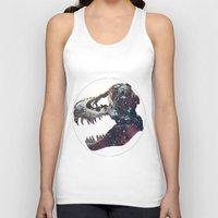 trex Tank Tops featuring Galaxy trex by Fallen amongst the wolves