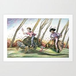 Racing Shells Art Print