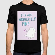 absolutely fine SMALL Black Mens Fitted Tee