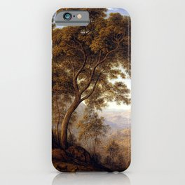 John Glover My last view of Italy, looking from the alps over Suza iPhone Case