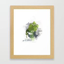 If you obey all the rules, you miss all the fun Framed Art Print