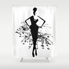 Goddess art print Shower Curtain