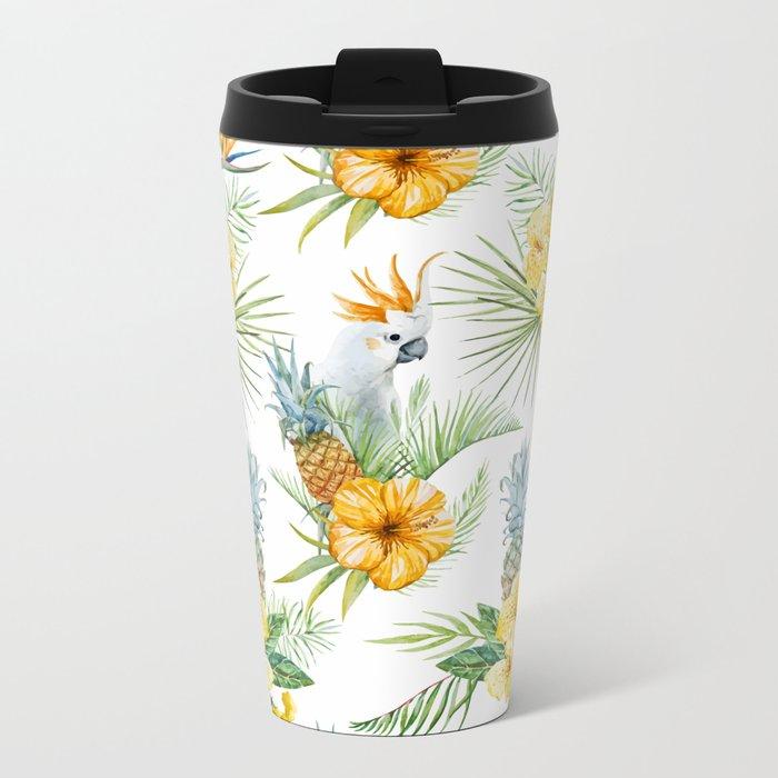 Pineapple Pattern 02 Metal Travel Mug