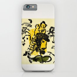 locandina poemes de marc chagall galerie iPhone Case