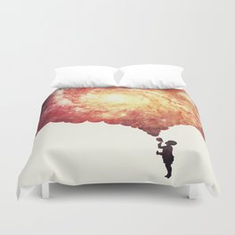 The universe in a soap-bubble! (Awesome Space / Nebula / Galaxy Negative Space Artwork) Duvet Cover