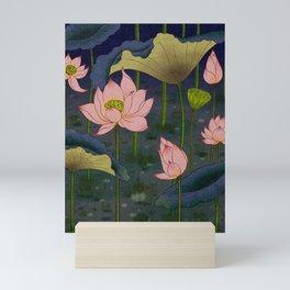Lotus flowers E - Minhwa-Korean traditional/folk art Mini Art Print