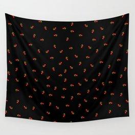 Dark Delicate Cherry Wall Tapestry