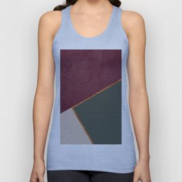 Burgundy Olive Green Gold and Nude Geometric Pattern #society6 #buyart Unisex Tank Top