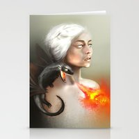 mother of dragons Stationery Cards featuring mother of dragons  by KazuneKoi