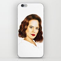 agent carter iPhone & iPod Skins featuring Agent Carter by Olivia Nicholls-Bates