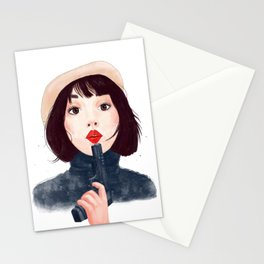 French woman with gun Stationery Cards